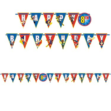 DC Super Hero Girls Ribbon Letter Banner