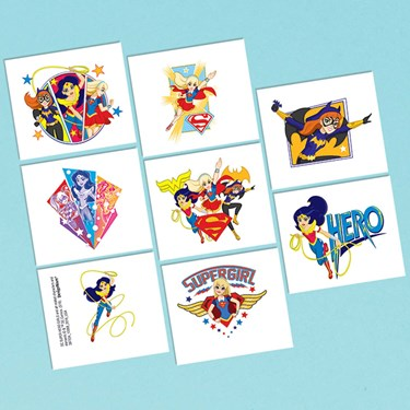 DC Super Hero Girls Tattoos