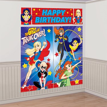 DC Super Hero Girls Wall Decorating Kit