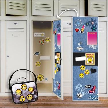 Denim Locker Decal & Emoji Patches