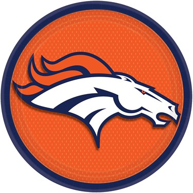 Denver Broncos Dinner Plates (8)