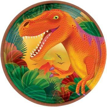 Dinosaur Party Cake Plates (8-pack)