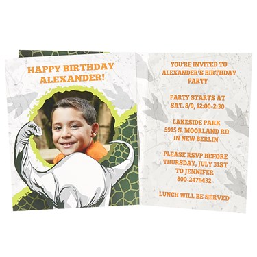 Dinosaurs Personalized Invitations