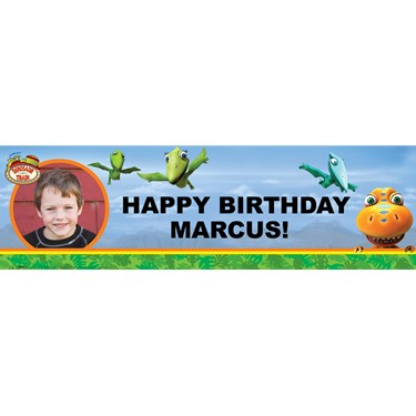 DinosaurTrain Personalized Photo Vinyl Banner
