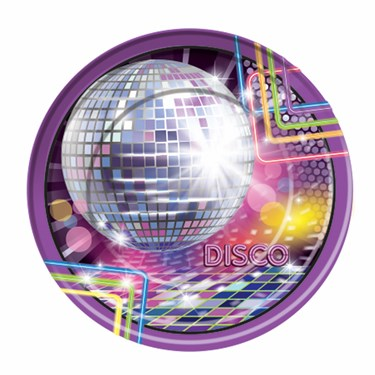 Disco Party Decor Dinner Plates(8)