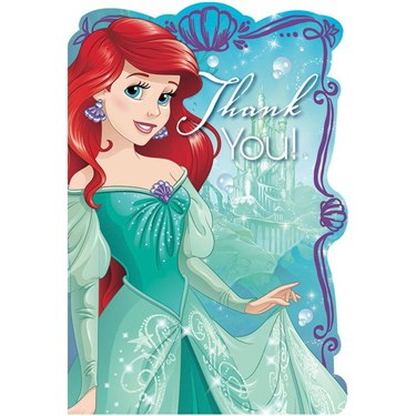 Disney Ariel Dream Big Thank You Notes(8)