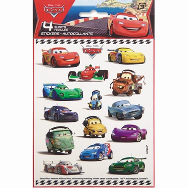 Disney Cars 2 Sticker Sheets(4)
