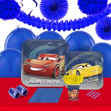 Disney Cars 3 16 Guest Tableware & Deco Kit