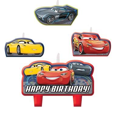 Disney Cars 3 Birthday Candle Set(4)