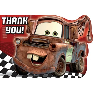 Disney Cars Dream Party Thank You Notes