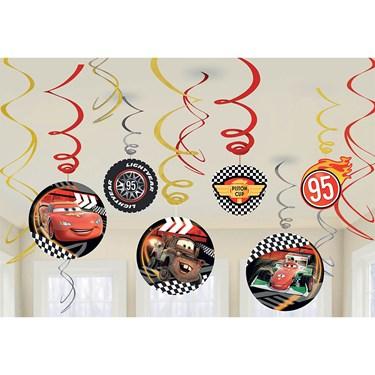 Disney Cars Foil Swirl Hanging Decoration