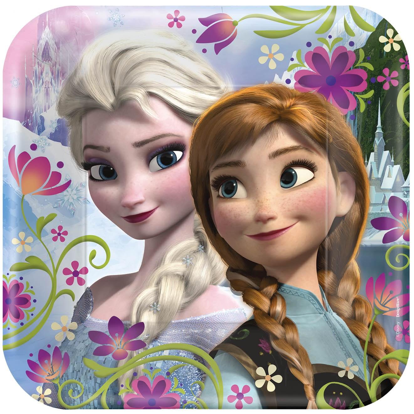 Disney Frozen Square Dinner Plates BirthdayExpresscom