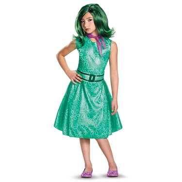 Disney Inside Out - Girls Classic Disgust Costume