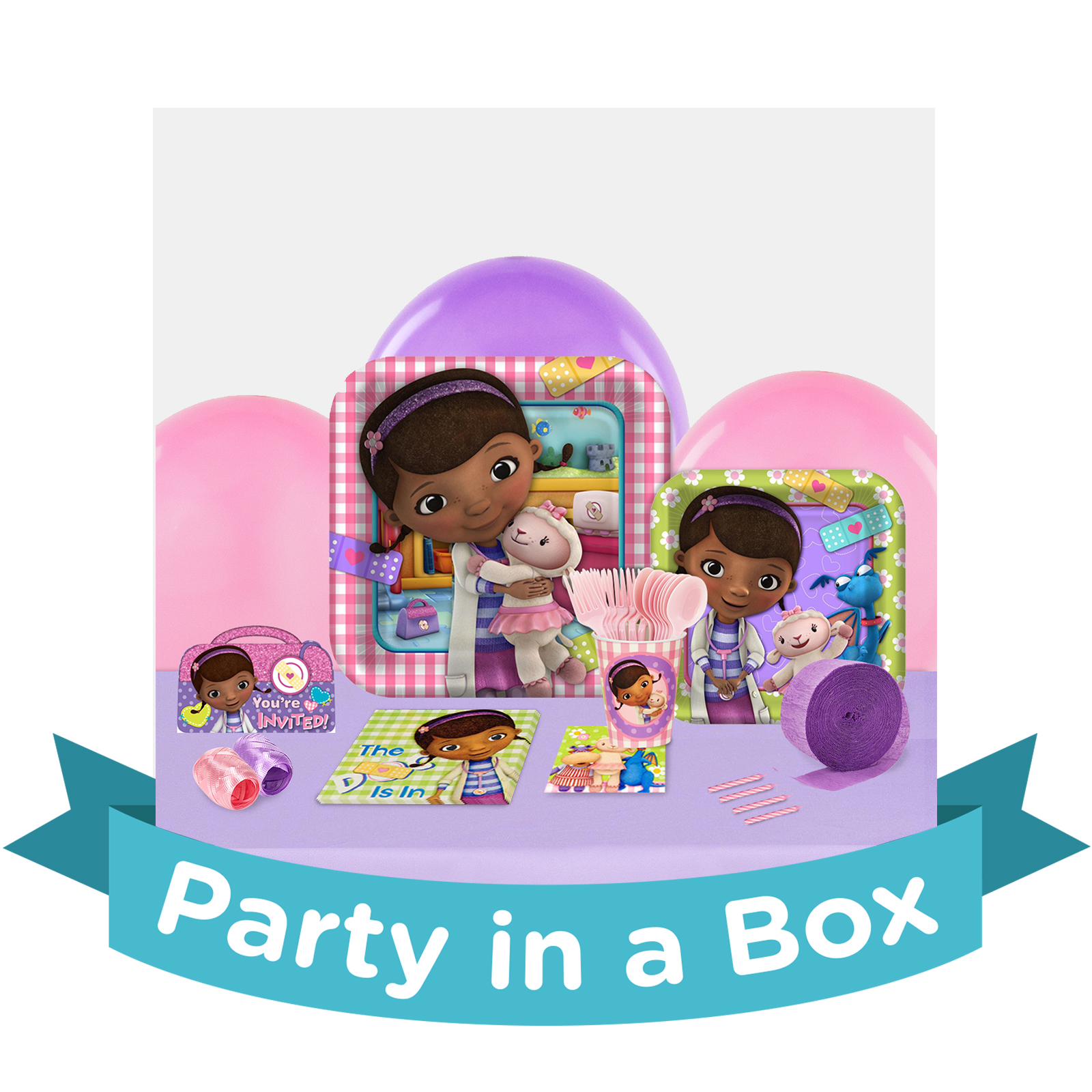 Doc Mcstuffins Table And Chair Set Part - 39: Disney Junior Doc McStuffins Party In A Box For 8   BirthdayExpress.com