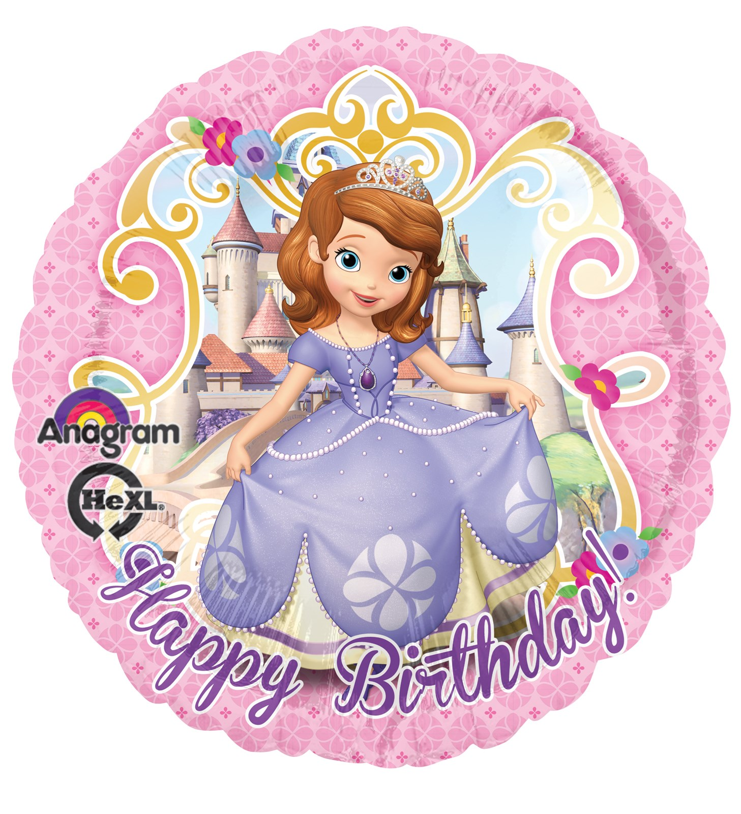 Default Image   Disney Junior Sofia the First Foil Balloon. Disney Junior Sofia the First Foil Balloon   BirthdayExpress com