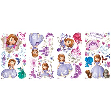 Disney Junior Sofia the First Giant Peel and Stick Wall Decals