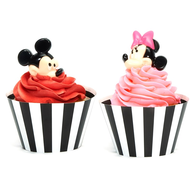 Disney Mickey & Minnie Mouse Cupcake Wrapper & Pick Kit ...