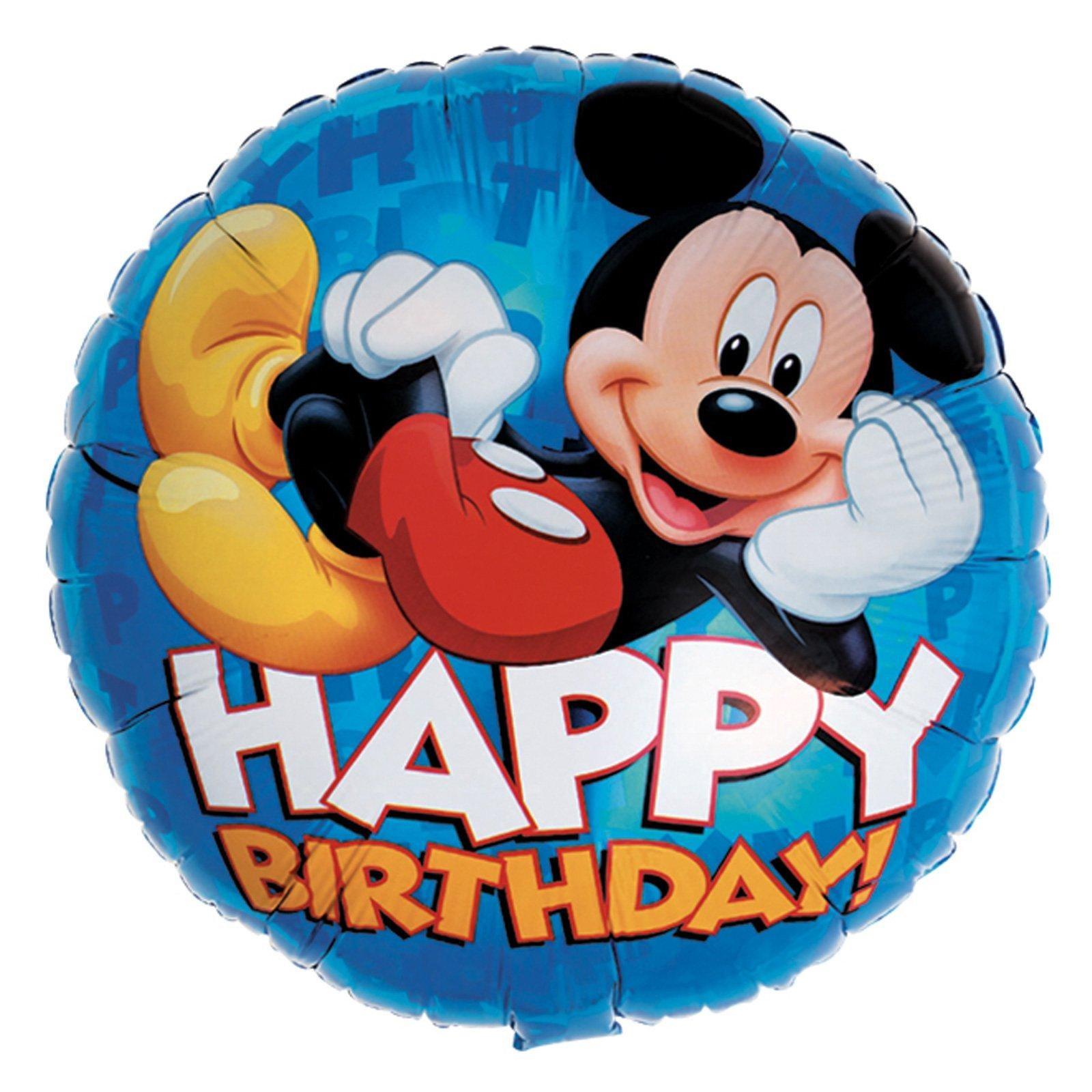 Disney Mickey Happy Birthday Foil Balloon   BirthdayExpress.com