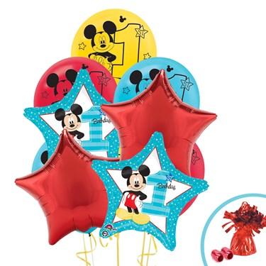 Disney Mickey Mouse 1st Birthday Balloon Bouquet