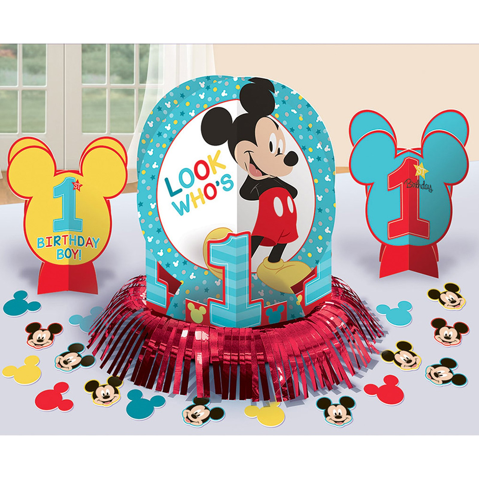 Disney Mickey Mouse 1st Birthday Decoration Kit