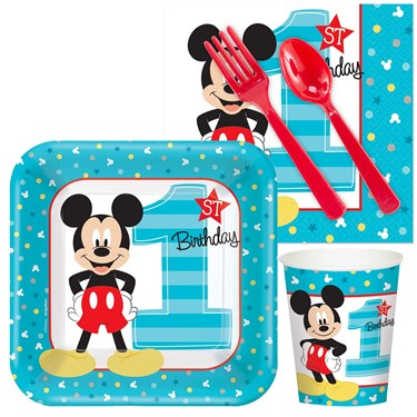 Disney mickey mouse 1st birthday snack pack for 1st birthday decoration packs