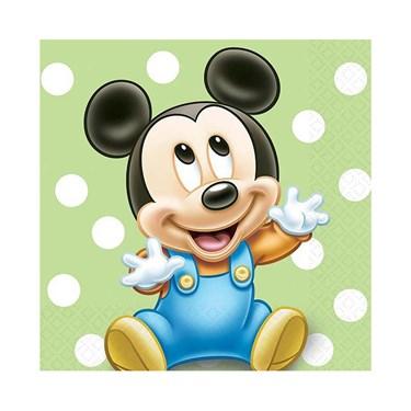 Disney Mickey's 1st Birthday Beverage Napkins (16)