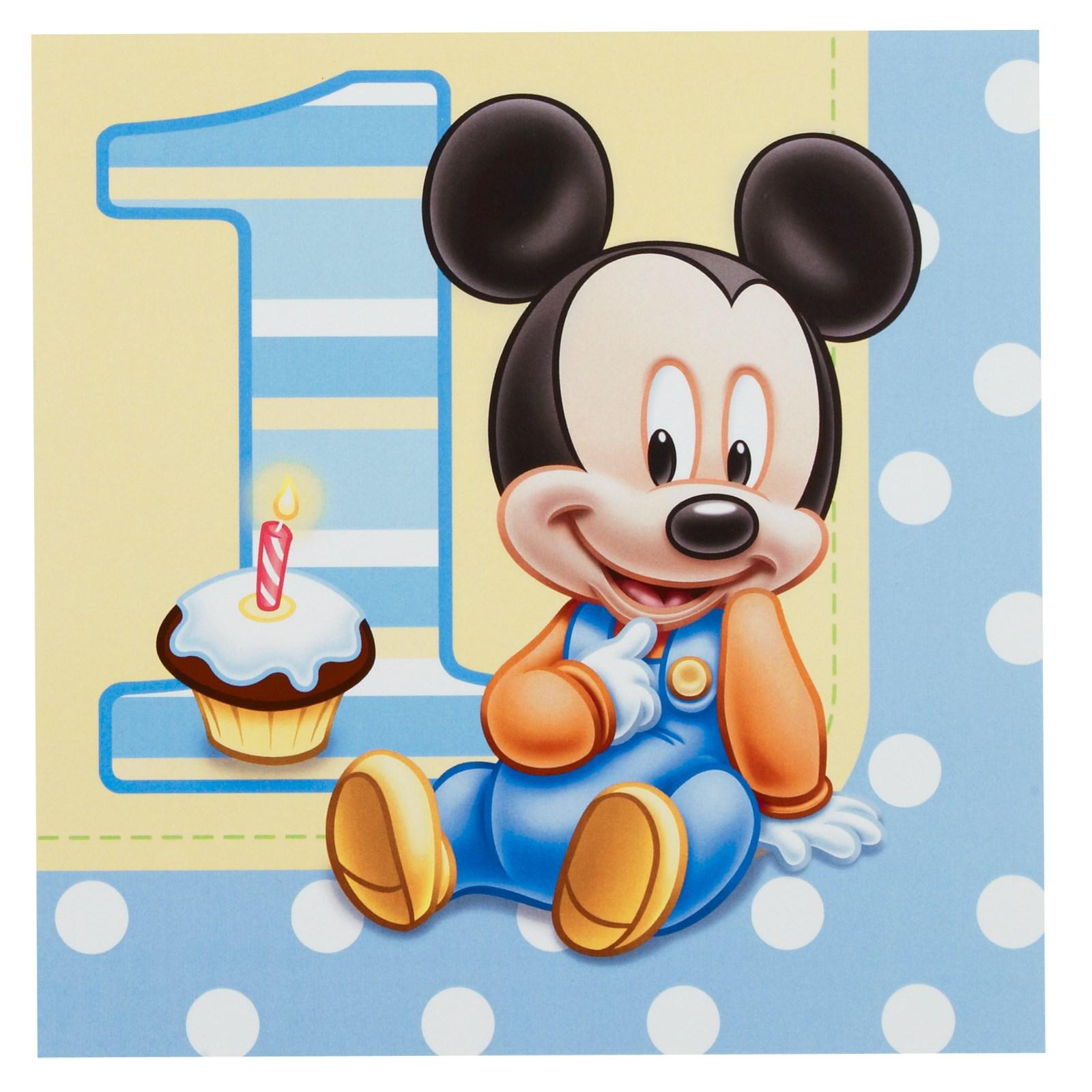 Disney Mickeys 1st Birthday Lunch Napkins – Baby Mickey Mouse 1st Birthday Invitations