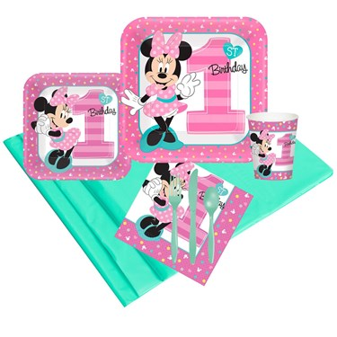 Disney Minnie Mouse 1st Birthday 24 Guest Party Pack