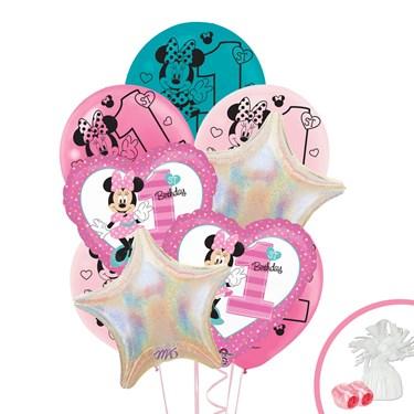 Disney Minnie Mouse 1st Birthday Balloon Bouquet