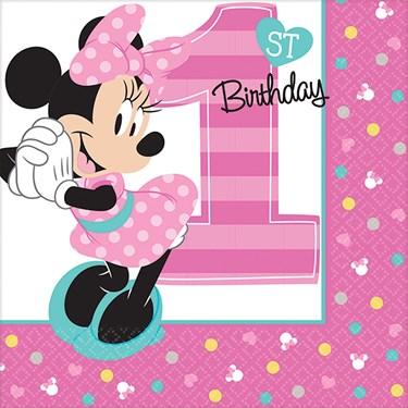 Disney Minnie Mouse 1st Birthday Beverage Napkins (16)