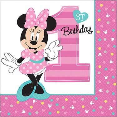 Disney Minnie Mouse 1st Birthday Lunch Npakins (16)