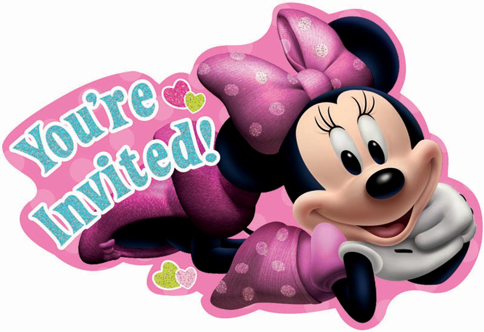 Disney Minnie Mouse Bowtique Invitations BirthdayExpresscom