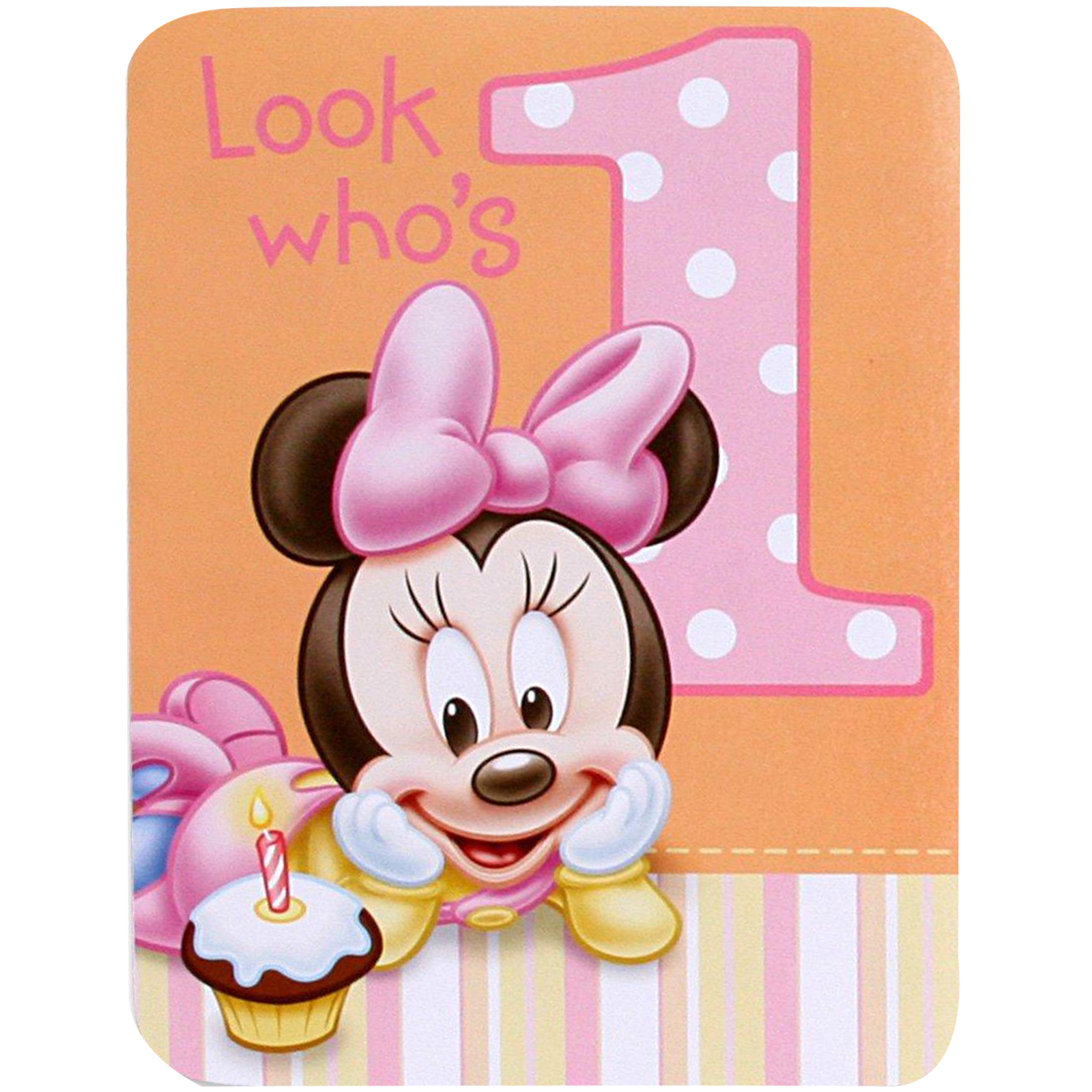 Disney Minnies 1st Birthday Invitations – Disney Photo Birthday Invitations