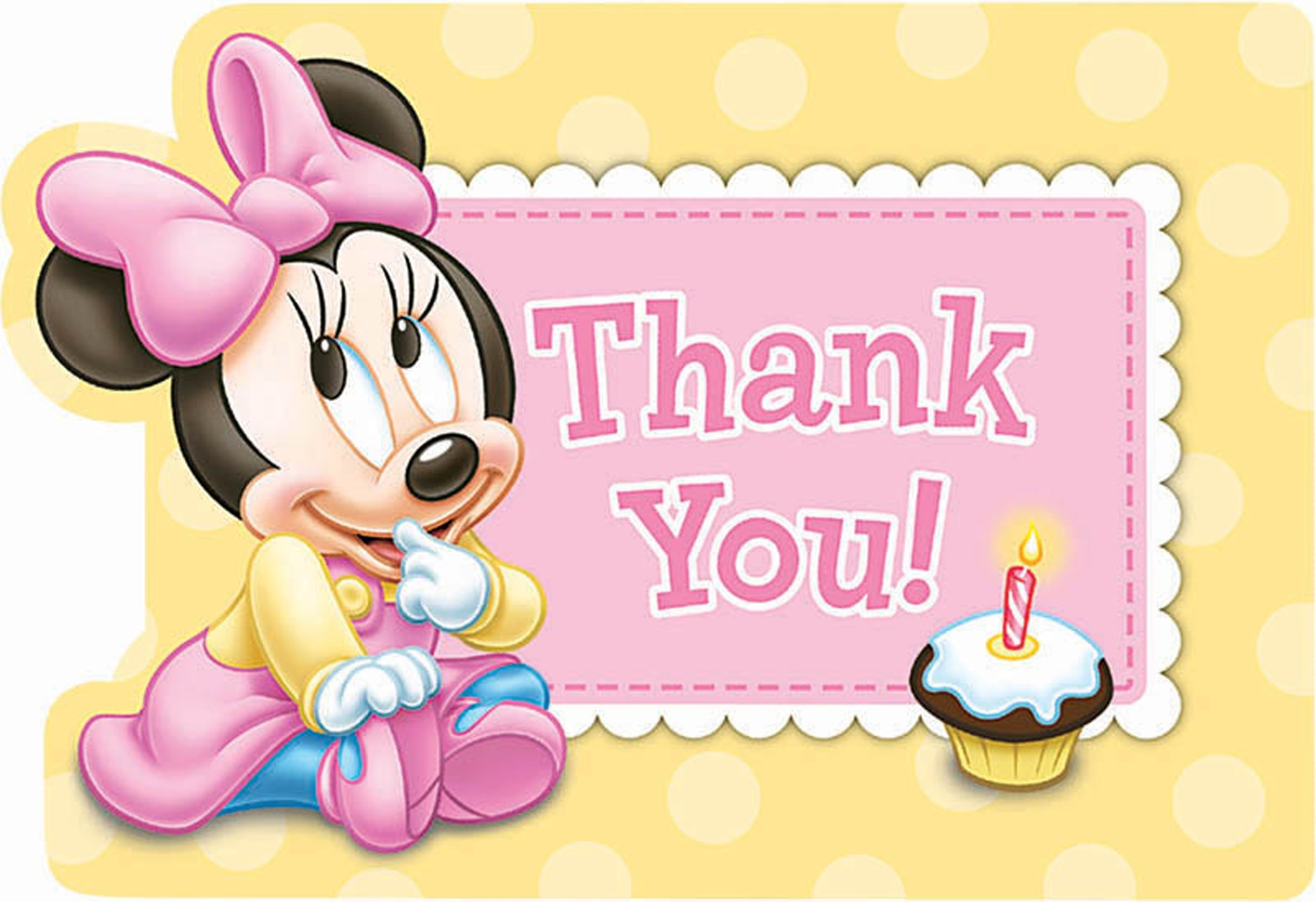 Disney Minnie s 1st Birthday Thank You Notes
