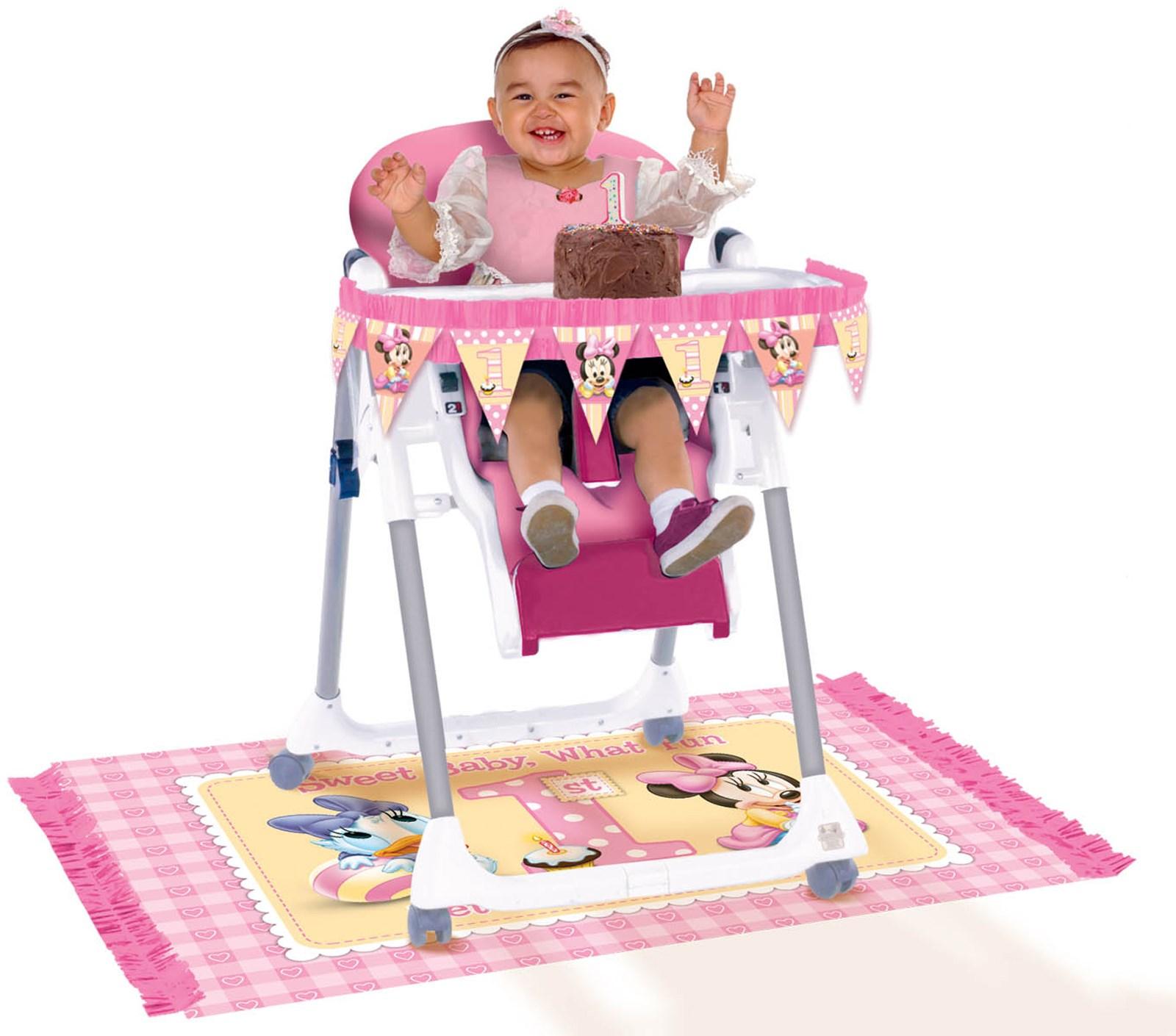 Disney Minnie s 1st High Chair Decorating Kit