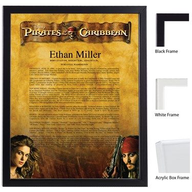 Disney Pirates of the Caribbean Scroll