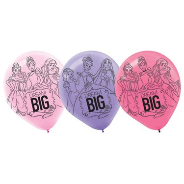 Disney Princess Dream Big Latex Balloons(6)