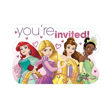 Disney Princess Postcard Invitations (8 Pack)