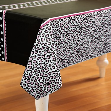 Diva Zebra Print Plastic Tablecover