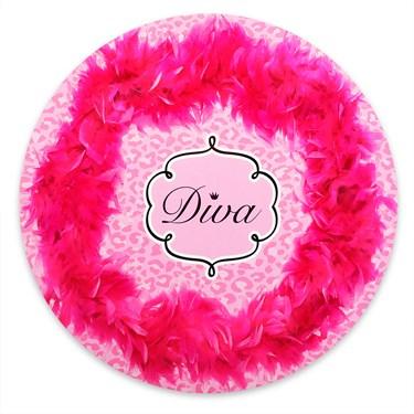 Diva Zebra Print Round Placemats (4)
