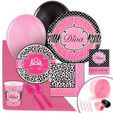 Diva Zebra Print Value Party Pack