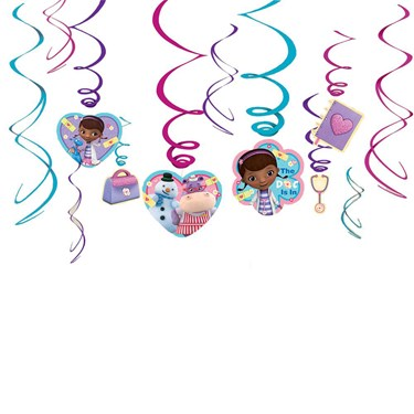 Doc Mcstuffins Hanging Foil Swirl Decora