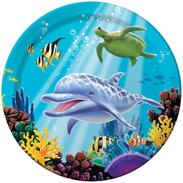 Dolphin Party Dinner Plates (8)