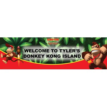 Donkey Kong Personalized Vinyl Banner