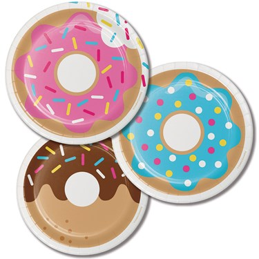 "Donut Time 7"" Cake Plates (8)"