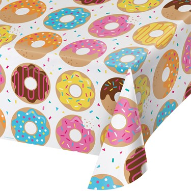 Donut Time Plastic Table Cover (1)
