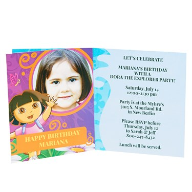 Dora's Flower Adventure Personalized Invitations (8)