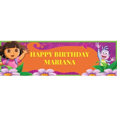 Dora's Flower Adventure Personalized Vinyl Banner