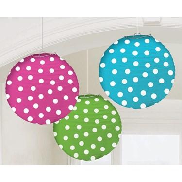 Dots Round Paper Lanterns