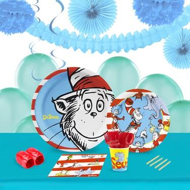 Dr Seuss 16 Guest Tableware & Deco Kit